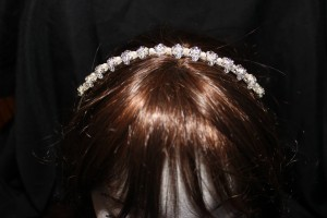 4914 Diamonte and pearl headband
