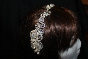 5123 Diamonte and pearl hair slide