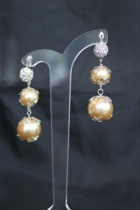 Champagne pearl earrings ME303